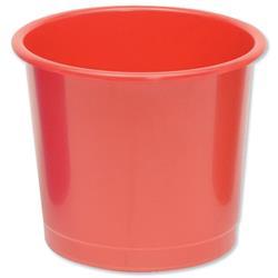 5 Star Office Waste Bin Polypropylene 14 Litres D304xH254mm Red