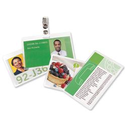 GBC Badge Card Laminating Pouches 250 Micron Ref 3743177 (100 Pack)