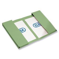 Elba Twin Pocket Wallet Foolscap Green Ref 100092107 - Pack 25
