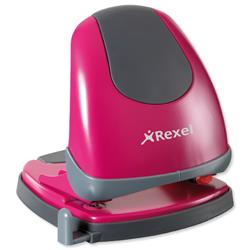 Rexel Easy Touch Low Force 2 Hole Punch Capacity 30x 80gsm Pink Ref 2102640