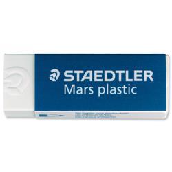 Staedtler Mars Plastic Eraser Premium Quality Self-cleaning 65x23x13mm Ref 2650BK2DA - Pack 2
