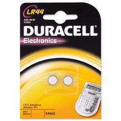 Duracell Battery Alkaline for Calculator or Pager 1.5V Ref LR44 - Pack 2