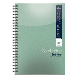 Cambridge Jotter Notebook Wirebound 80gsm Ruled 200pp A4 Ref 400039062 - Pack 3