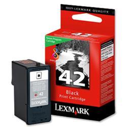 Lexmark No. 42 Inkjet Cartridge Return Program Page Life 220pp Black Ref 18Y0142E