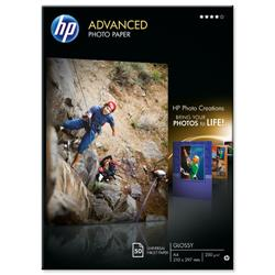 Hewlett Packard HP A4 Advanced Glossy Photo Paper Ref Q8698A - 50 Sheets