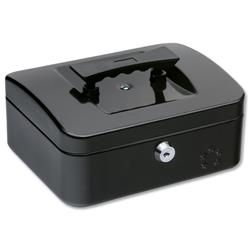 5 Star Cash Box 8 Inch W160xD200xH90mm Anthracite Black Ref 918885