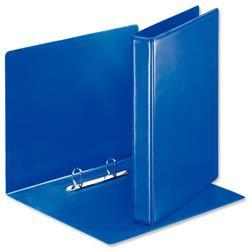 Esselte Presentation Ring Binder Polypropylene 2 D-Ring 25mm Size A4 Blue Ref 49728 [Pack 10]