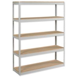 Influx Archive Shelving Unit Heavy-duty Extra Wide 5 Shelves Capacity 5x 100kg W1500xD450xH1880mm