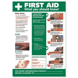 Stewart Superior First Aid Guidance Poster W420xH595mm Ref HS101