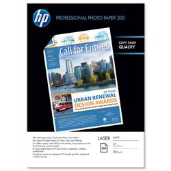 Hewlett Packard HP A4 200gsm Matt Photo Laser Paper Ref Q6550A - 100 Sheets