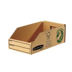 Bankers Box by Fellowes Parts Bin Corrugated Fibreboard Packed Flat W147xD280xH102mm Ref 07354 - Pack 50