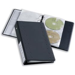 Durable CD and DVD Pocket for Index 20 Ring Binder Capacity 2 Disks Clear Ref 5203/19 - Pack 5