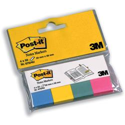 3M Post-It Note Markers 50 per Pack Assorted Ref 6704U - Pack 4