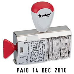 Trodat Dial-A-Word Date Stamp Ref 1117