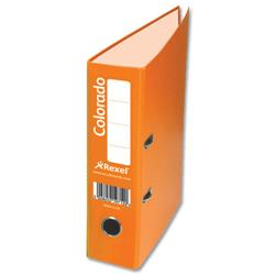Rexel Colorado Lever Arch File Plastic 80mm Spine A4 Orange Ref 28146EAST [Pack 10]