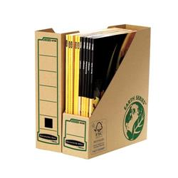 Bankers Box by Fellowes Earth Magazine File Recycled FSC Self Assembly A4 Plus Ref 4470001 [Pack 20]