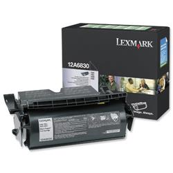Lexmark T520/T522 Black 7.5k Prebate Laser Toner Cartridge Ref 12A6830