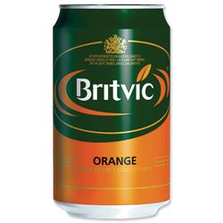 Britvic Orange Juice Can 330ml Ref A02100 - Pack 24