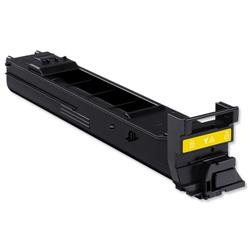Konica Minolta Laser Toner Cartridge Page Life 4000pp Yellow Ref A0DK251