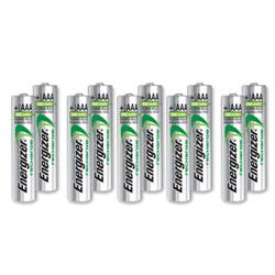 Energizer Battery Rechargeable Advanced NiMH Capacity 700 mAh LR03 1.2V AAA Ref E300626400 [Pack 10]