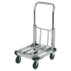 5 Star Facilities Platform Truck Lightweight Aluminium Adjustable Capacity 100kg W415xL500-725mm