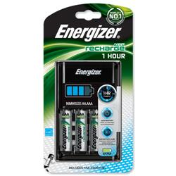 Energizer 1Hour Battery Charger Fast-charging Accu with 4x AA 2300mAh Batteries Ref 637123