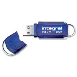 Integral Courier USB 3.0 Flash Drive Blue 32GB Ref INFD32GBCOU3.0