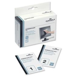 Durable Screenclean Duo Antistatic Wet & Dry Wipes Ref 5721 - Pack 10 sets