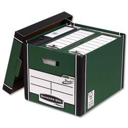 Bankers Box by Fellowes Premium 726 Archive Storage Box Green and White Ref 7260802 [Pack 10] + £20 Cashback