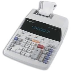 Sharp EL1607P Printing Calculator Mains-power 10-Digit 3.0 Lines/sec 220x274x69mm Ref EL1607P
