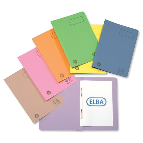 Elba Ashley Flat File 315gsm Capacity 35mm Foolscap Yellow Ref 100090284 - Pack 25