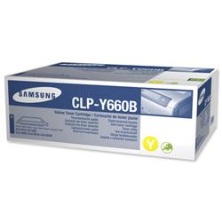 Samsung CLP-Y660B Yellow High Capacity Laser Toner Cartridge for CLP-610/CLP660/CLX-6200 Ref CLP-Y660B/ELS