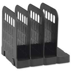 Avery Basics Book Rack Modular Interlocking Base 4 Sections W200xD183xH190mm Black Ref 1136BLK