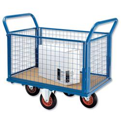 5 Star Facilities Truck Balanced Wheel Mesh Panel Blue