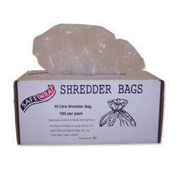Robinson Young Safewrap Shredder Bags 40 Litre Ref RY0470 - Pack 100