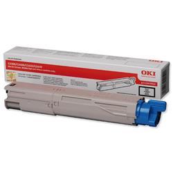 OKI 2.5K Black Microfine Laser Toner for C3450/C3600/C3300n/C3400n Ref 43459332
