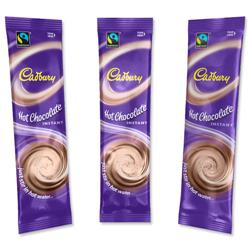 Cadbury Hot Chocolate Powder Sachets Fairtrade 1 Cup Ref 386059 [Pack 50]