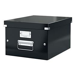 Leitz Click and Store Collapsible Archive Box Medium For A4 Black Ref 60440095