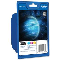 Brother Inkjet Cartridge Page Life 1200pp 3 Colour Ref LC1280XL - Pack 3