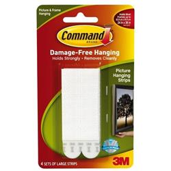 Command Picture Hanging Strips Large Ref 17206 [Pack 4]