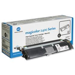 Konica Minolta MC 2400/2500 Series High Capacity Black Toner Cartridge Ref A00W432