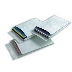 Tyvek Gusseted E4 Envelopes Extra Capacity Strong White Ref R4290 - Pack 100
