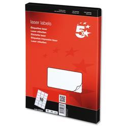 5 Star Office Multipurpose Labels Laser 18 per Sheet 63.5x46.6mm White [1800 Labels]