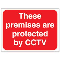 Stewart Superior Outdoor Premises Protected By CCTV Sign Foamboard Ref FB044