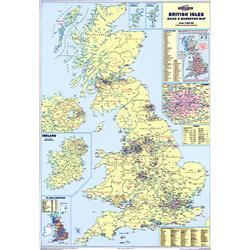 Map Marketing Sales & Marketing Map Unframed 1200x830mm Ref UKM