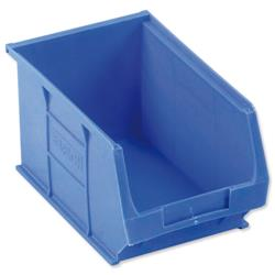 Container Bin Heavy Duty Polypropylene W240xD150xH132mm Blue [Pack 10]
