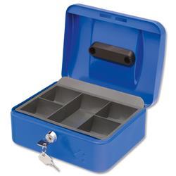 5 Star Cash Box 8 Inch W160xD200xH90mm Blue Ref 9188893