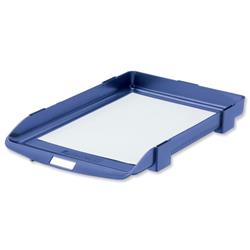 Rexel Agenda Classic 35 Stackable Letter Tray Blue Ref 25201