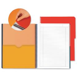 Oxford International Activebook Polypropylene Perforated 160pp A4+ Orange/Grey Ref 100102994 - Pack 5