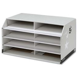 5 Star Facilities Document Sorter with 8 Compartments Grey